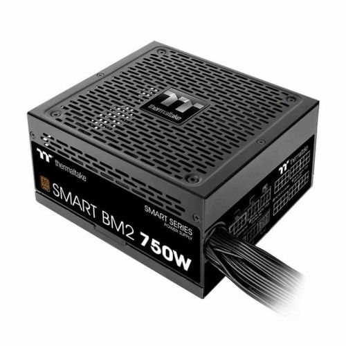 Nguồn Thermaltake Smart BM2/0750W/Semi Modular/Non Light/Full Range/Analog/80 Plus Bronze/EU/JP Main CAP/All Flat Cables