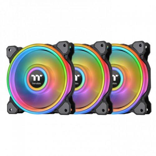 Fan Thermaltake Riing Quad 12 RGB Radiator Fan TT Premium Edition 3 Pack/Fan/12025/PWM 500~1500rpm/Quad Riing/LED software control