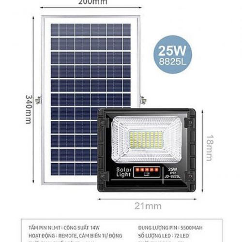 Đèn năng lượng mặt trời JINDIAN JD-8825L (25w)