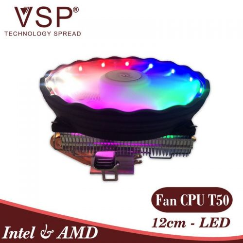 Tản Nhiệt CPU VSP T50-4U 12cm Led RGB