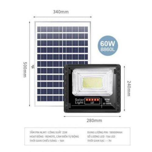 Đèn năng lượng mặt trời JINDIAN JD-8860L (60w)
