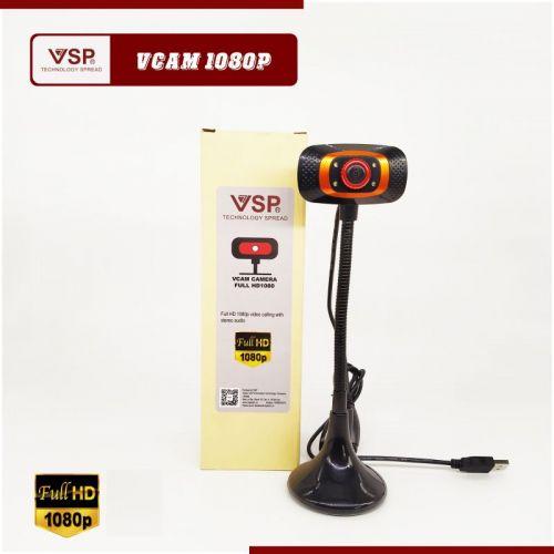 Webcam Vcam 1080p Chân Cao Có Mic Chính Hãng VSP