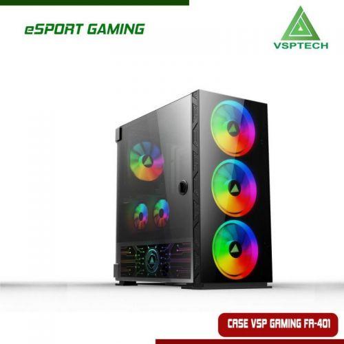 Case VSP FA-401 Gaming Có Sẵn Fan LED RGB 14cm