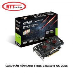 CARD MÀN HÌNH Asus STRIX-GTX750TI-OC-2GD5 (NVIDIA GeForce GTX 750 Ti, GDDR5 2GB, 128-bit, PCI Express 3.0) ( HANG CŨ )