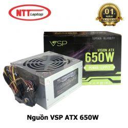 Nguồn VSP 650W Full Box - Kèm Dây Nguồn - Hàng Chính Hãng