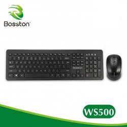 Combo Phím Chuột Không Dây Bosston WS-500 Chính Hãng Kèm Pin