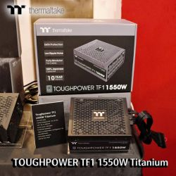 Nguồn Thermaltake Toughpower TF1/1550W/Fully Modular/Non Light/Full Range/Analog/80 Plus Titanium/EU/100% JP CAP/All Flat Cables