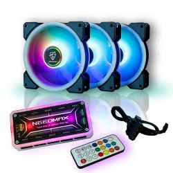 Combo bộ 3 Fan led RGB 2 mặt VSP V206B +Hub + Remote