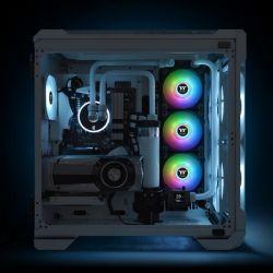 Fan Thermaltake Pure Duo 12 ARGB Sync Radiator Fan 2 Pack/Fan/12025/PWM 500~1500RPM/18 LED/5V addressable/MB SYNC & hardware control/Balck Fan