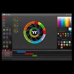 Fan Thermaltake Riing Quad 12 RGB Radiator Fan White TT Premium Edition 3Pack/White Fan/12025/PWM 500~1500rpm/Quad Riing/LED software control