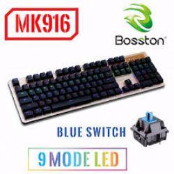 KB Bosston MK 916 phím cơ led RGB chuyên Game USB Chính Hãng