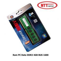 Ram PC DATO DDR3 4GB bus 1600MHz