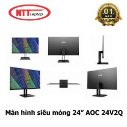 Màn hình AOC 24V2Q (24 inch/LED/IPS/75Hz/250cd/m²/DP+HDMI/5ms)