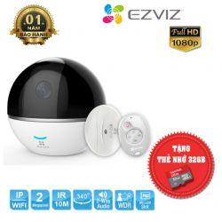 Ezviz EZ-C6T-RF - Camera Wifi Ezviz 1080p ( Tặng Kèm Thẻ Nhớ 32gb )