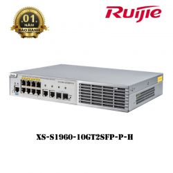 SWITCH 8 CỔNG RUIJIE XS-S1960-10GT2SFP-P-H