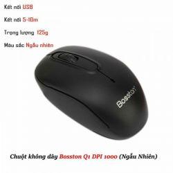 Chuột Không Dây Bosston Q1 - Tặng Kèm Pin