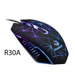 Chuột 6D chuyên game Bosston R30A led đa màu (Đen)