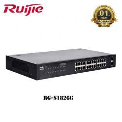 Switch Ruijie RG-S1826G-P 24 cổng POE & 2 cổng GE SFP tốc độ 1Gbps