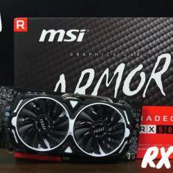 Card màn hình MSI RX 580 ARMOR 8G OC (8GB GDDR6, 256-bit, DVI+HDMI+DP, 1x8-pin) ( HÀNG CŨ )