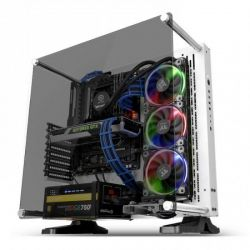 Case Thermaltake Core P3 TG Snow/White/Wall Mount/SGCC/Tempered Glass*1/Color Packing