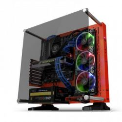 Case Thermaltake Core P3 TG/Red/Wall Mount/SGCC/With Tt Gaming Riser cable