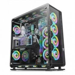 Case Thermaltake Core P8 TG Black/Black/Wall Mount/SPCC/4mm Tempered Glass*3